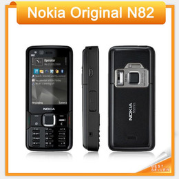 Wholesale Gsm Cellphones Gps - Original Nokia N82 Unlocked GSM Mobile Phone Dual Camera 5MP WIFI 3G GPS refurbished Phone