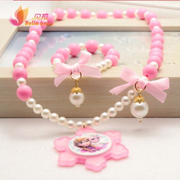 Wholesale Cheap Baby One Pieces - One Piece and Wholesale Frozen Baby Princess Baby Girls Children Cheap Necklaces Bracelets Christmas