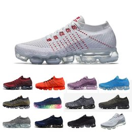 Wholesale Red Light Products - New Running Shoes Men Women Vapormax kintting Product Breathable Sports Shoes Vapormaxes Hiking Jogging Walking Sneaker air cushion eur36-45