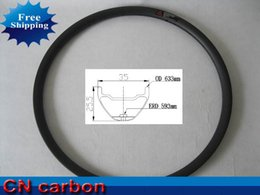 Wholesale 35mm Beads - Wholesale-new arrival Bead Hookless 35mm wide x 25.5mm depth 29inch Tubeless ready carbon MTB rim high quality free shipping