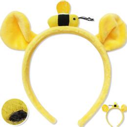 Urso amarelo festival de dança cabeça aro Crianças urso orelhas headband do bebê headband festa de aniversário de Natal suprimentos NO. 8 de