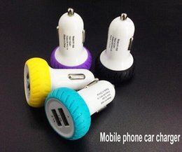 Wholesale Iphone5 New Charger - 2016 new cute Tyre 2.1A Dual USB Car Charger Adatper For Mobile Phone Samsung Galaxy S6 Apple iphone5 6 Ipad