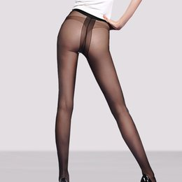 Wholesale Sexy Taste - The ultra-thin core spun silk T sexy female crotch pantyhose stockings toe file transparent seamless conjoined through meat taste Free Ship