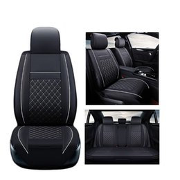 Wholesale A2 Leather - ( Front + Rear ) Luxury Leather car seat covers For Audi A6L R8 Q3 Q5 Q7 S4 A1 A2 A3 A4 A5 A6 A7 A8 auto accessories car styling