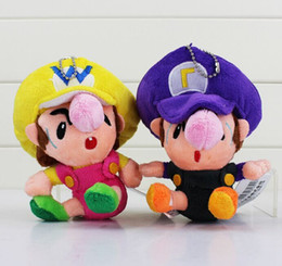 classic movie dolls Australia - Super Mario Classic Dolls Baby Mario Luigi Wario Waluigi Prinecess Peach Plush Doll Toys For Children