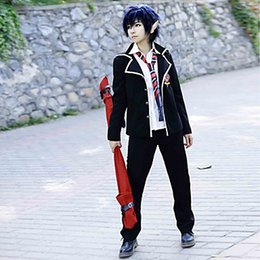 Wholesale Games Sexo - 2015 Dress Fantasia Sexy Costumes Sexo Blue Exorcist Rin Okumura Cos Anime Cosplay White And Black Cheaper Costume Sets Different Sizes 2950