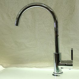 Wholesale Vanity Sinks Bowls Faucets - Round Vessel kitchen sink Faucet with chrome polished vanity style Mixer 82405-1