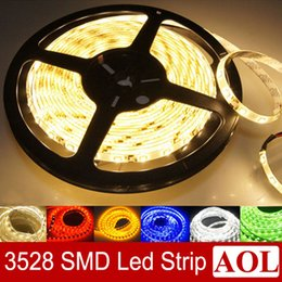 Wholesale Single Led Price - Low price single color waterproof & non-waterproof 5M 300 LED 3528 SMD Flexible Strip Lights Car Home Garden