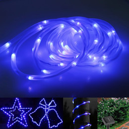 Wholesale bulb neon - Waterproof Solar Lamp Fairy Light LED Rope Light 23ft 7M 50 LEDs 1.2V LED Strings Christmas Party Tree Outdoor String Light Led Solar Strips