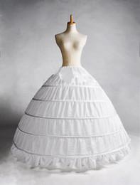 Wholesale Dresses Real Samples - 2015 White 5 Hoop Petticoat Crinoline Slip Underskirt Bridal Wedding dress Hot Sale Real Sample Bridal Princess Petticoat Bridal Underskirt