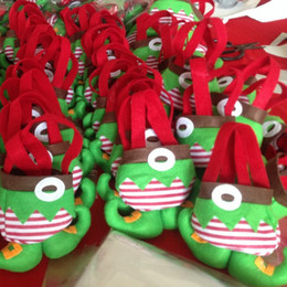 Wholesale Santa Boots Decorations - Xmas Gift Bag Christmas Candy Bag Santa Claus Elf Spirit Boots Shoes Candy Bag Stocking Filler Christmas Decoration Supplies 1000 Pieces DHL