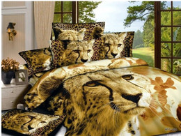 Wholesale 3d Brown Lion Animal Print Bedding Comforter Set For Queen Size Bedspread Duvet Cover Bed In A Bag Sheet 100 Cotton Bedroom From Dropshipping