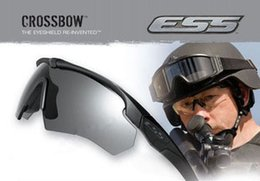 Wholesale Tactical Safety Goggles - Goggles-Brand ESS ICE 2.4 Safety Glasses Tactical Army Goggles TR90 Frame For Outdoor Hunting Wargame Cycling SunGlasses Bike Eyewear H207
