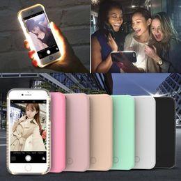 Wholesale Iphone 5s Led Cases - Fashion New Case For iPhone 6 7 8 Plus 5 5S Iphone X Selfie Luminous LED Cases,Flash Light UP Illuminated Anti-Skid Emitting Hard Back Cover