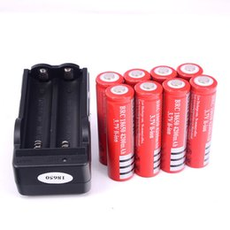 Wholesale Ion X - 8 x UltraFire 18650 3.7V 4200mah Lithium Rechargeable Battery Red,UltraFire BRC 18650 Li-Ion batteries With charger