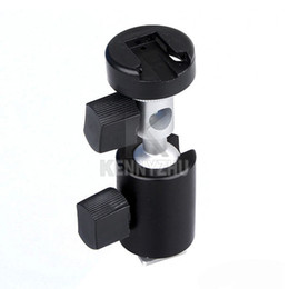 "Wholesale Flash Hot Shoe Tripod Mount - 360 Degree Swivel Flash Hot Shoe Support Mount C Bracket Umbrella Holder for 1 4"" 3 8"" Tripod Light Stand"