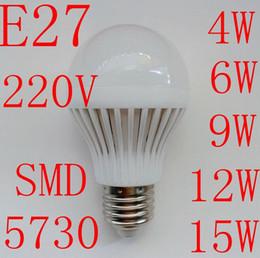 Wholesale Lampada Led 15w - E27 4W 6W 9W 12W 15W LED Bulbs 220V-240V lampada led lamp Cold white warm white LED lights e27 led bulbs