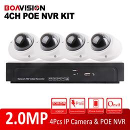 Wholesale Dome Camera Vandal Ip - CCTV Security H.264 Vandal-proof IR 10M 1080P 2.0MP HD IP Network IP Camera 4Ch POE NVR Kit Video Surveillance CMS P2P Cloud System
