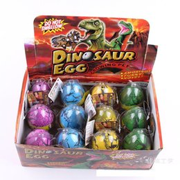 Wholesale dinosaur hatching - 12pcs box Large Easter Egg dinosaur eggs dinosaur Easter Egg variety of animals eggs can hatch out animals creative toys 6.5*5cm