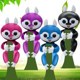 Wholesale Monkey 12 - Finger Monkeys Funny Smart Induction Sensor Toys Sound Motion Touch Respond Finger Monkey Toy Gift For Christmas