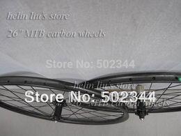 "Wholesale Novatec Hubs Price - Wholesale-Carbon 26"" MTB 25mm clincher carbon wheelset Novatec D041SB D042SB hub with hight quality and best price"