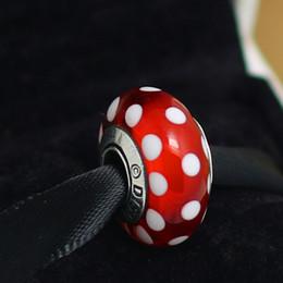 Wholesale Look Bracelet - 5pcs 925 Sterling Silver Signature Look Murano Glass Beads Fit Pandora Charm Jewelry Bracelets & Necklaces