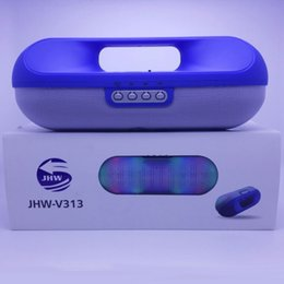 Wholesale Medical Radio - JHW-V313 Wireless Speakers Bluetooth LED Lights Pill Medical Kit Shape Speaker For LG HTC Samsung Phones DHL Free MIS088