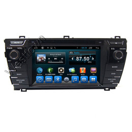 Wholesale Dvd Corolla Touch Screen - 2 din car dvd player gps navigation entertainment system built in radio rds tv dual core fit for Toyota corolla 2014