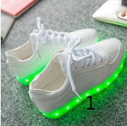 Wholesale Pink Dance Sneakers - Colorful glowing shoes USB charging ghost dance step LED luminous breathable luminous shoes sneakers men and women Running shoes, fashion sh