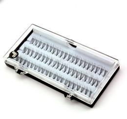 Cils 8mm en Ligne-Professional 60pcs / set Faux Cils Cils Individuels Maquillage Cils Extension Fusées Faux Cils Noir Longs Cils 8mm 10mm 12mm