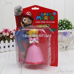 """Wholesale Princess Peach Pvc Figure - Wholesale-Super Mario Bros Figures Princess Peach PVC Action Figure Model Toy Doll 6"""" 14CM"""