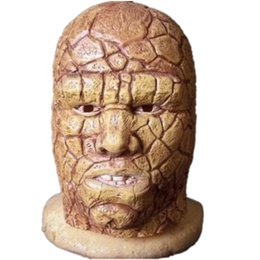 Wholesale Ben Movie - Movie Fantastic Four The Thing Ben Grimm Cosplay Mask Adults Full Head Latex Masks Party Halloween