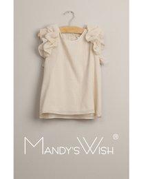 Wholesale Shirt Fabrics Wholesale - 2015 Big Baby Girls Silk Fabric T-shirts Kids Girl Summer Ruffles Jumper Top Princess Shirt Children's Clothing Babies Clothes