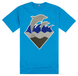 Wholesale Purple Dolphin - Pink Dolphin Kanye West Men's Hip Hop t shirt Pink+Dolphin Men Hood By Air Tee Shirts Cotton tshirt Man Brand Clothing