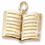 Wholesale Pendant Book - New Arrival 30Pcs Lot Zinc Alloy 18K Gold Rhodium Plated 3D Open The Book Pendant Charm Jewelry Made In China