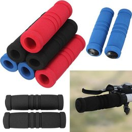 Wholesale Road Racing Grips - 2015 2pcs Bike Bicycle Grips Motorcycle Handle Bar Cover Bike Bicycle Racing Sponge Soft Sweat Bicycling Handlebar Grip Covers