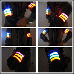 Wholesale Event Decorations - Nylon Lumineux Decorations Armbands Night Reflective Wristband LED Bracelet Glow in the Dark Party Supplies Events Favors L006