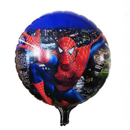 Wholesale Spiderman Birthday - Wholesale-Foil balloons 2015 new cartoon Superman Spiderman birthday party decoration supplies toys wholesale and retail Free shipping