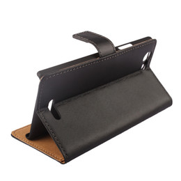 Wholesale Xiaomi Holster - For Xiaomi 6 MI6 M6 Wiko Ridge 4G LG Leon C40 Genuine Real True Wallet Flip Leather Case Pouch Credit Card Stand Holster Smooth Skin cover