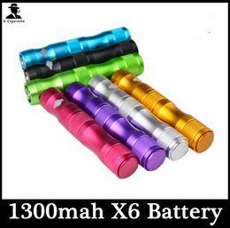 Wholesale E Cigarette Vv Lava Tube - Ego X6 Battery Lava Tube VV E Cigaratte x6 1300mah For ce4 ce5 vivi rda atomizer Electronic Cigarette Various Color