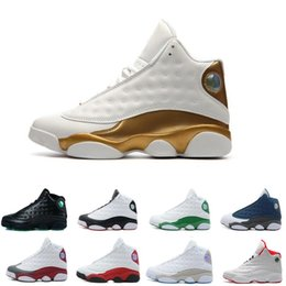 Wholesale White Thread China - Cheap Air Retro 13 Basketball Shoes Men Women Outdoor Original Sneakers Red China Retros 13s XIII Low Sports white black grey teal
