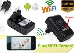 Wholesale Adapter Dvr Spy - Multi-functional 1080P Wall Charger Adapter Hidden Spy WiFi Camera video Recorder Covert Clock DVR, Supper iPhone, Android phones