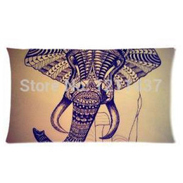 Wholesale Aztec Pillows - Wholesale-Custom Design Tribal Aztec Elephant Fashion 20x 36 Soft Pillowcases Home Bed Pillow Cover Surprised Gift