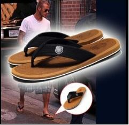 Wholesale Red Pairs - Fashion David Men Sandal Slippers Man's Flip Flops Beckham Leisure Shoes Hot Sale 1 Pair Per Lot