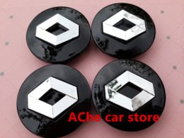 Wholesale Renault Wheel Badges - 4pcs lot 57mm Black Renault car emblem Wheel Center Hub Caps Dust-proof Badge logo covers Auto accessories Free shipping
