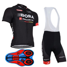 Wholesale Jersey Tops For Women - 2017 New Bora Argon Short Sleeve Cycling Clothing for Men  Women Top Cycling Jersey + Cycling Bib Shorts Set Manga Corta Maillot
