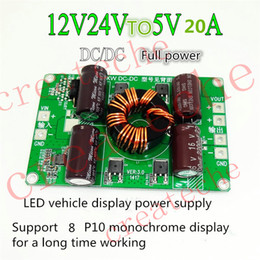 Wholesale Voltage Converters Wholesale - 12V 24V to 5V 20A power converter DC-DC vehicle DC voltage reducing module car display screen power conversion board 100W bare board OEM