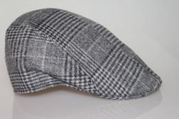 All'ingrosso-inverno e autunno uomo elegante Vintage Checker Berretti di lana Cappello picco Cap supplier berets for wholesale da berretti per il commercio all'ingrosso fornitori