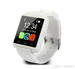 U gps guardare online-U8 Bluetooth Smart Watch U Orologi Touch da polso da polso Smartwatch per iPhone 4 4S 5 5S Samsung S4 S5 Note 3 HTC Smartphone da telefono Android