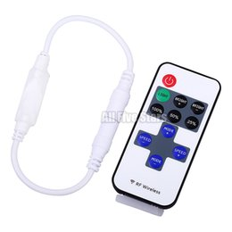 Wholesale Led Remote Dimmer Dhl - Led Dimmer Mini Controller Wireless RF Remote Controller 2014 Hot Sale for Single Color 5050 3528 Strip Light use 11 keys DHL Free Shipping